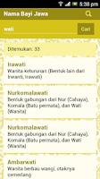 Screenshot of Nama Bayi Jawa