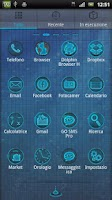 Screenshot of Blue Water Go Launcher Theme