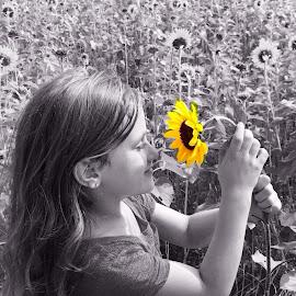 My Sunflower by Bridget Wegrzyn - Babies & Children Child Portraits (  )