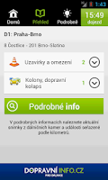 Screenshot of Dopravni info