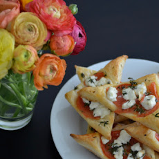 Goat Cheese and Tomato Triangles