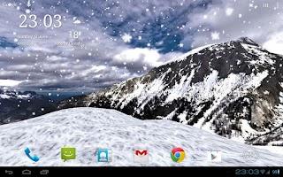Screenshot of Snowfall 360° Live Wallpaper