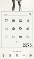 Screenshot of love you xoxo dodol theme