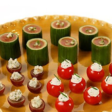 Herbed Goat Cheese in Cherry-Tomato Cups