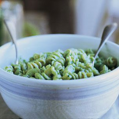 Fusilli with Raw Zucchini, Mascarpone and Ricotta