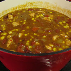 Chicken, Chipotle, and Garbanzo Bean Soup