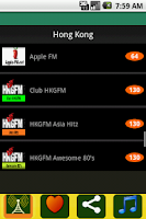 Screenshot of Radio Hong Kong