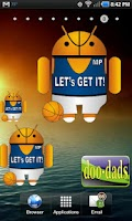 Screenshot of Droid Basketball doo-dad