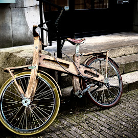 Wooden Bike in Amsterdam by Dale Mellor - Transportation Bicycles ( bike, wooden bike, amsterdam, europe 2014, netherlands, bicycle,  )
