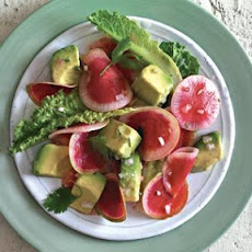 Watermelon Radish Salad with Avocado Vinaigrette