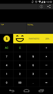 THANKS!TIP CALCULATOR - screenshot