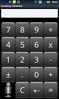Screenshot of Speak n Talk Calculator Lite