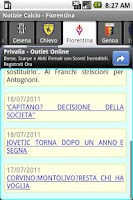 Screenshot of Notizie Calcio Serie A 2013-14