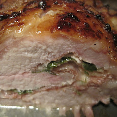 Autumn Stuffed Pork Loin With Cider Gravy