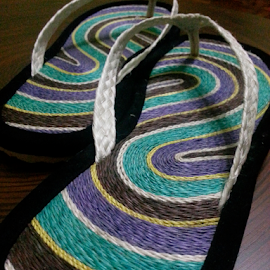 Sapin sa paa by Carmina Luna - Artistic Objects Clothing & Accessories ( slippers, footwear, summer, feet, lines, abaca )