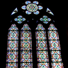 Stained Glass Window - Notre Dame, Paris by Jessica Sacavage - Buildings & Architecture Places of Worship ( paris, window, notre dame, france, stained glass,  )
