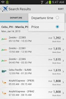 Screenshot of Flight Search PH