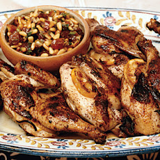Grilled Cornish Game Hens with Lemon, Sumac, and Date Relish