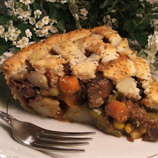 Tender Beef Pot Pie W/Thyme and Pepper Pastry