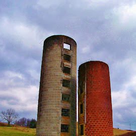 silos by Delores Mills - Buildings & Architecture Other Exteriors