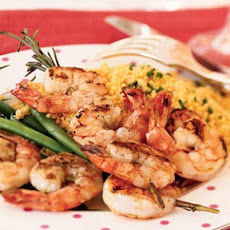 Rosemary Shrimp Scampi Skewers