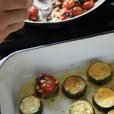 Zucchini Rounds with Roasted Tomatoes