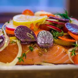 Salmon with blanket of veg by Sara Sawatzki - Food & Drink Cooking & Baking (  )