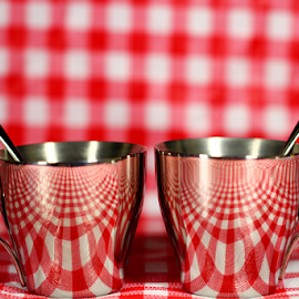 by Dipali S - Artistic Objects Cups, Plates & Utensils ( reflection, red, cups )