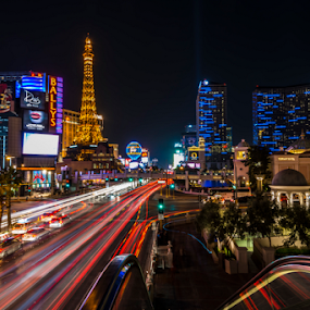 Vegas On The Move by Andy Chow - City,  Street & Park  Skylines ( , city, night, city at night, street at night, park at night, nightlife, night life, nighttime in the city )