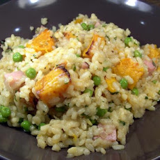 Ham, Pumpkin and Pea Risotto