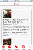 Screenshot of South Carolina Football