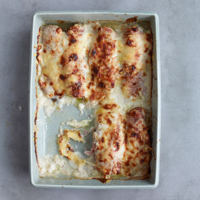 Braised Endive with Ham and Gruyère