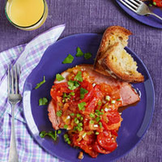 Ham Steaks with Spicy Tomatoes