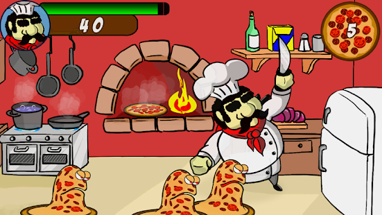 Cook VS Angry Pizzas Free - screenshot