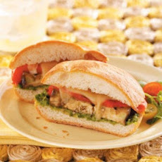 Grilled Veggie Sandwiches with Cilantro Pesto Recipe