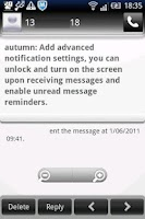 Screenshot of Easy SMS Memorial theme