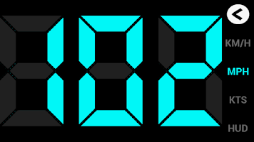 Screenshot of GPS HUD Speedometer