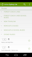 Screenshot of Arrivo Sydney Lite Transit App