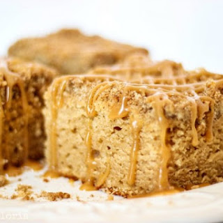 Peanut Butter Crumble Coffee Cake with Peanut Butter Glaze