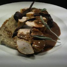 Roast turkey breast with Tudor stuffing
