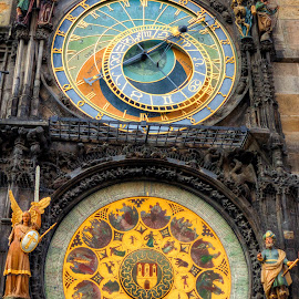 The Astronomical Clock  by Kaj Andersson - Artistic Objects Antiques ( astronomical clock, old town, praha, prague )