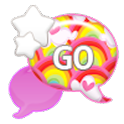 GO SMS - Rainbow Starburst icon