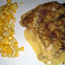 Stuffing crusted Baked Chicken