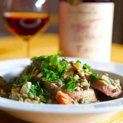 French Green Lentils with Sausage