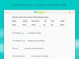 Screenshot of Aprender inglés con Wlingua