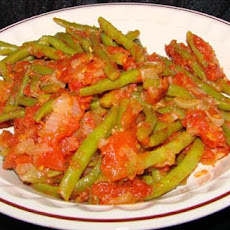 Green Beans Braised in Tomatoes