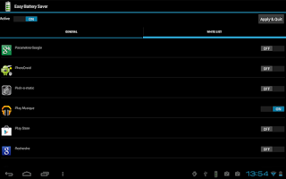 Screenshot of Easy Battery Saver Lite