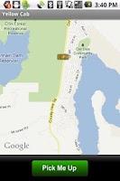 Screenshot of Yellow Cab App