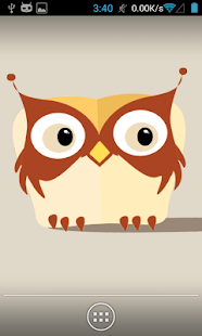 Flaty Owlie (flat wallpaper) - screenshot