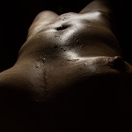 Sprinkled with water by Imagesby Jake - Nudes & Boudoir Artistic Nude ( exposure, water, flash, angle, oil,  )